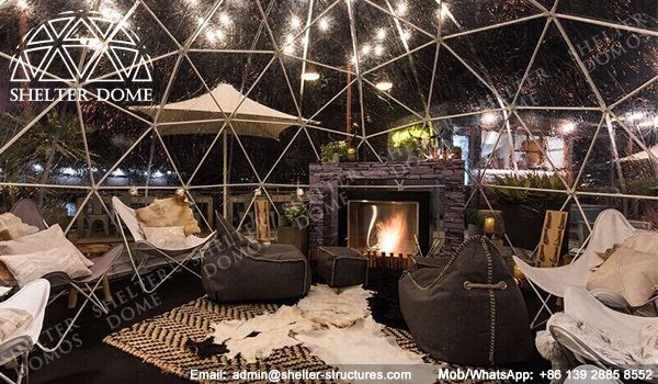 4m, 5m Spherical Structures - Small Geodesic Dome for Sale - Pop Up Dome Tent - Igloo Domes Bars with Transparent Roof -5