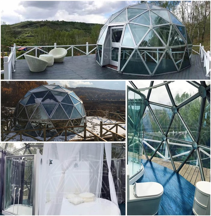 SHELTER Glass Dome - 6m Eco Living Dome Tent