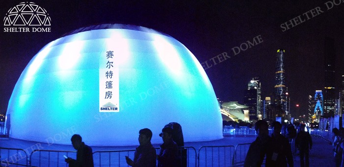 SHELTER Projection Dome for Sale - Projection Show Equipment Supplier in China - Dia. 30m Large Spherical Cinema 1