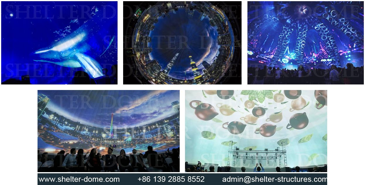 SHELTER Projection Dome for Sale - Projection Show Equipment Supplier in China - Dia. 30m Large Spherical Cinema -2