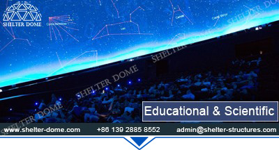 SHELTER Projection Dome for Sale - Projection Show Equipment Supplier in China - Large Spherical Cinema 11