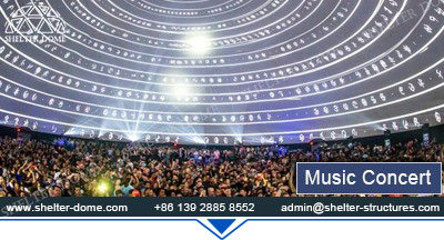 SHELTER Projection Dome for Sale - Projection Show Equipment Supplier in China - Large Spherical Cinema 31