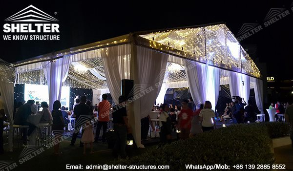 15 x 20 Structure Tent for Gathering - Transparent Gala Marquee Sale on Malaysia - Small Party Tent on Grass Land -2