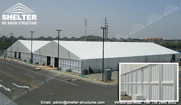 how to choose the sidewall for temporary warehouse building - ABS solid wall