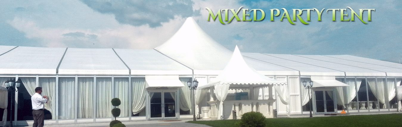 Shelter mixed party tent - high peak wedding marquee with glass wall