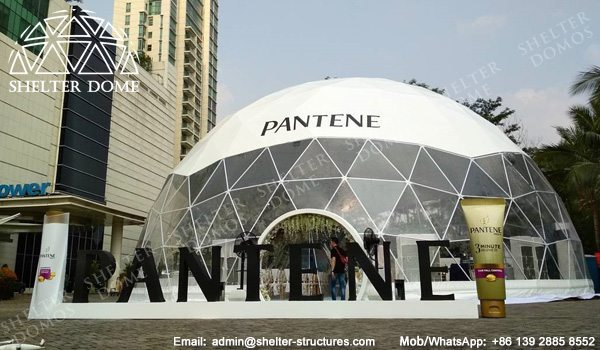 Pantene Brading in Transparent Geodesic Dome - 18m Geodome Tent with Panoramic Window
