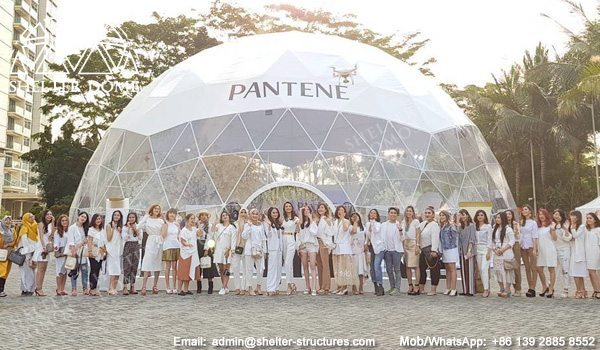 18m Dome Store Event Dome for Sale - Branding Dome Structure for Pantene - Large Geodesic Dome with Panoramic View - Shelter Dome (7)