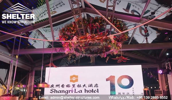 200sqm clear top wedding tent from Shelter - transparent wedding banquet hall in Shangri-la Hotel