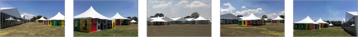 Reception Tent in Zimbabwe - 25 x 100m Hospitality Hall with Glass Wall
