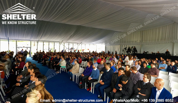30 by 40 tent with church seats inside - 1000 people tent with full decoration