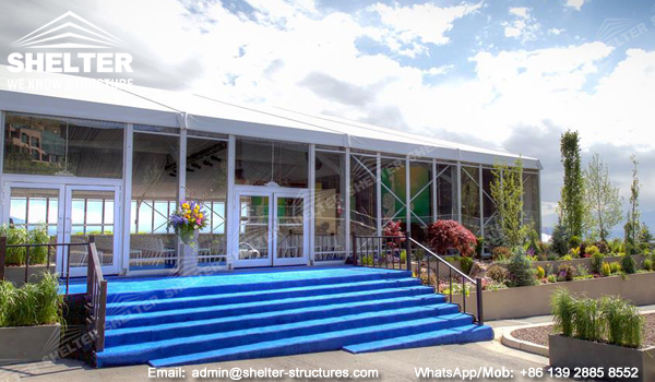 30 by 40 tent with clear glass wall - 1000sqm clearspan tent for temporary conference hall