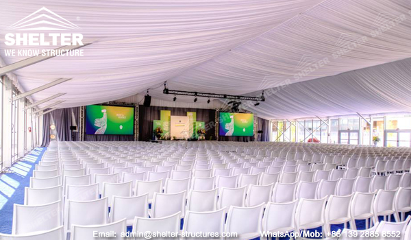 30 by 40 tent with 700 seats conference, church - commercial event planning