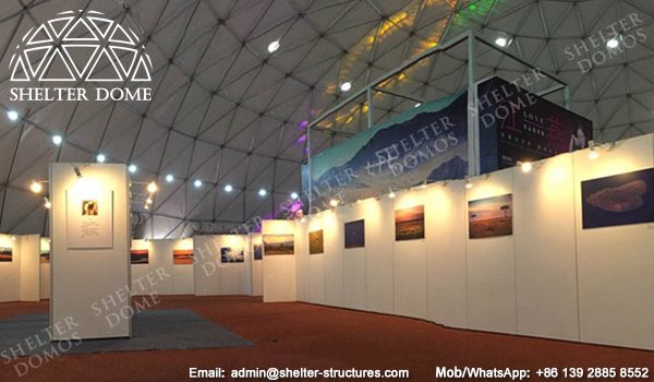 SHELTER Exhibition Dome - Spherical Tent for Ceremony, Conference