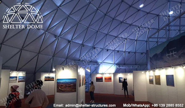 Dome Construction from SEHLTER DOME - 50m Sphercial Exhibition Hall
