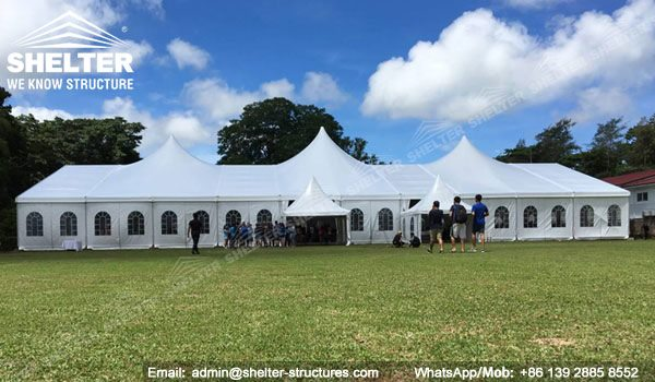 25 by 50m multi-peak wedding marquee - 800 to 1000ppl capacity clearspan party tent