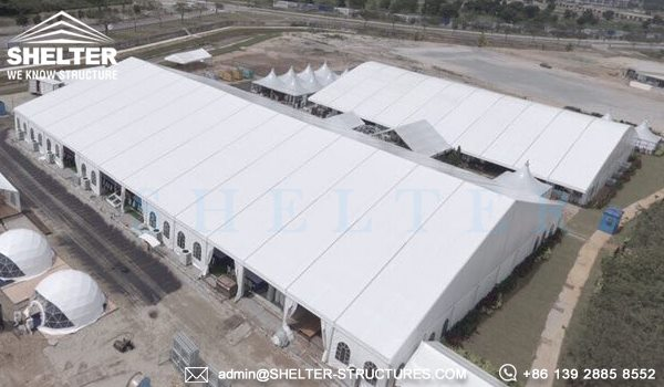 Royal Wedding Tent by Shelter - 40 x 65m Structure Tent with French Windows -2