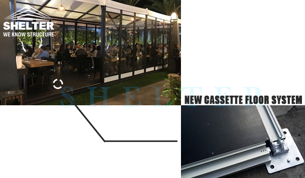 small gala tent with new cassette floor system 2