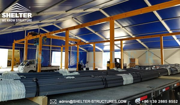 Shelter Industrial Canopy - Semi-permanent distribution center - logistic warehouse - Loading Bay Canopy -2