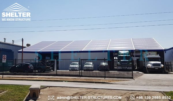 Shelter Industrial Canopy - Semi-permanent distribution center - logistic warehouse - Loading Bay Canopy -4