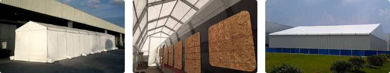 Temporary building for logistics industry - temporary workshop